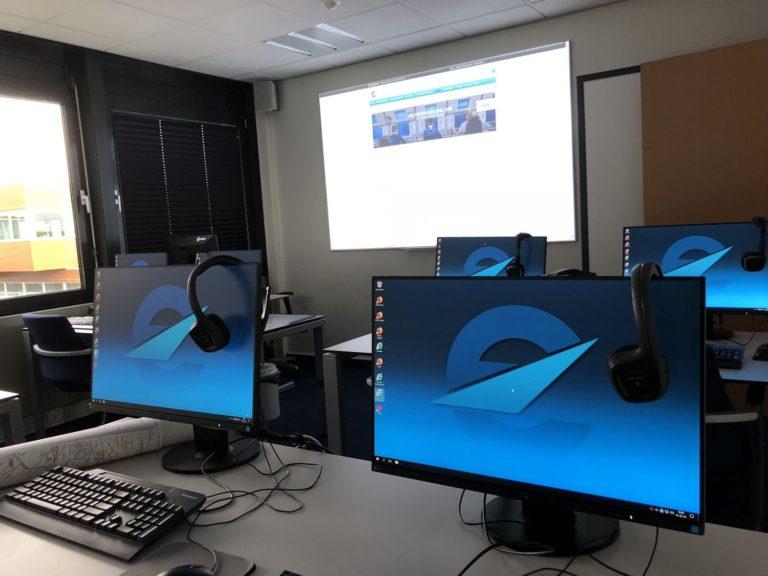Trainingsruimte voor interactieve scholing van medewerkers of cursisten